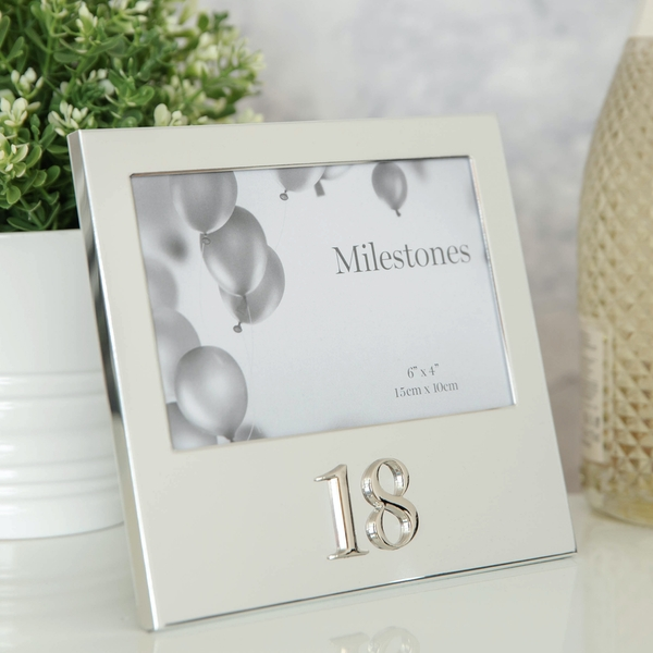 """6"""" x 4"""" - Milestones Birthday Frame with 3D Number - 18"""