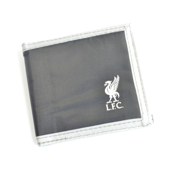 Liverpool Multi Pocket Black Canvas Crest Wallet