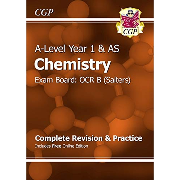 New A-Level Chemistry: OCR B Year 1 & AS Complete Revision & Practice with Online Edition by CGP Books (Paperback, 2015)
