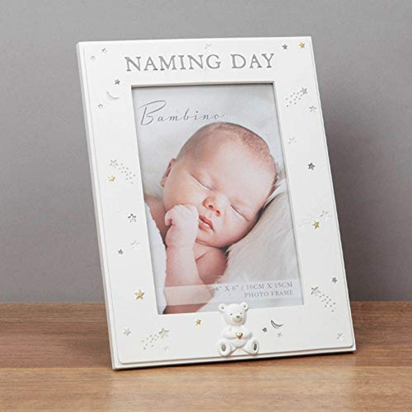 "4"" x 6"" - Bambino Resin Naming Day Photo Frame"