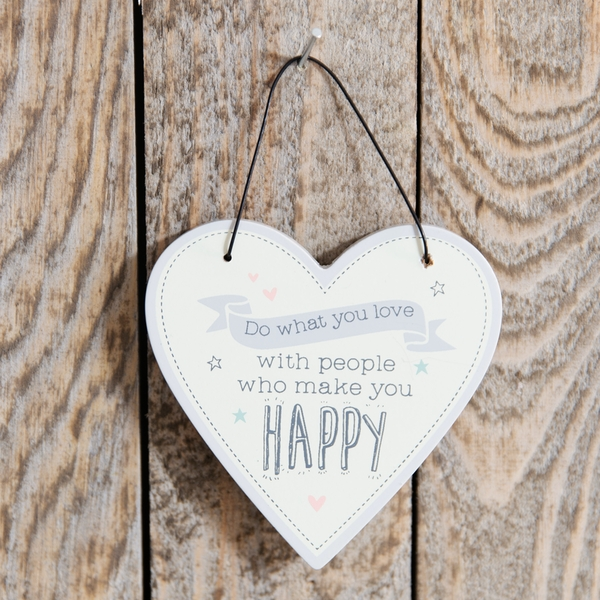 Love Life Heart Plaque - Do What You Love