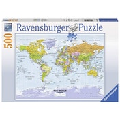 Ravensburger Political World Map 500 Piece Jigsaw Puzzle