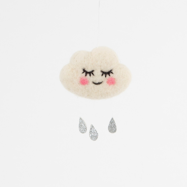 Sass & Belle Sweet Dreams Raindrops Cloud Hanging Decoration