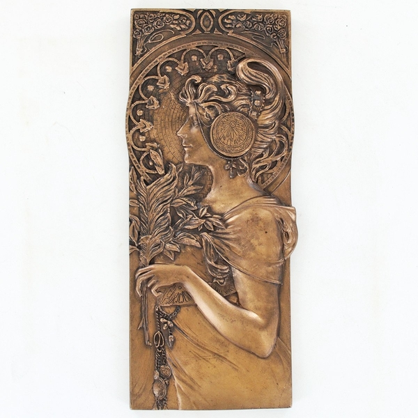 Autumn Leaves Cold Cast Bronze Plaque