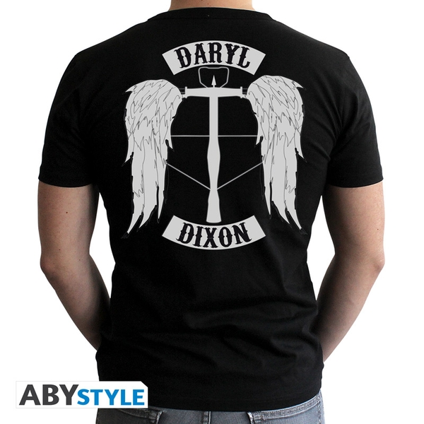The Walking Dead - Daryl Man's Medium T-Shirt - Black