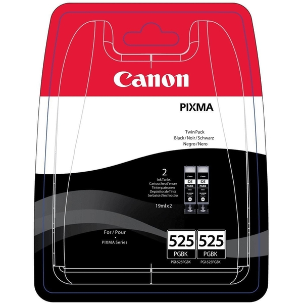 Canon 4529B010 (525 PGBK) Ink cartridge black, 323 pages, 19ml, Pack qty 2