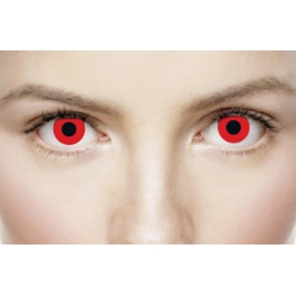 Bloody Red 1 Month Halloween Coloured Contact Lenses (MesmerEyez XtremeEyez) - Image 3
