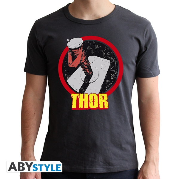 Marvel - Thor Men's Large T-Shirt - Grey