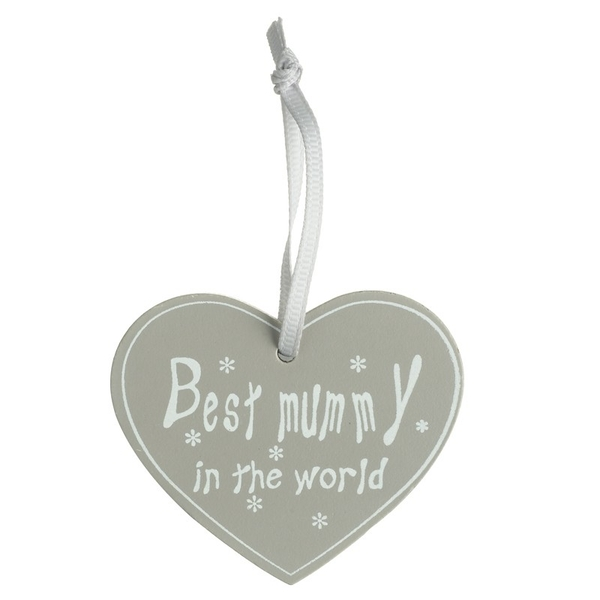 Image of 'Best Mummy in the World' Hanging Sign by Heaven Sends