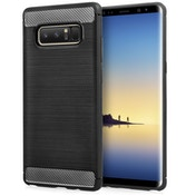 Samsung Galaxy Note 8 Carbon Fibre Textured Gel Cover - Black