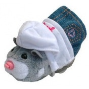 Zhu Zhu Pets Spring Hamster Outfit White Hoodie and Sunglasses