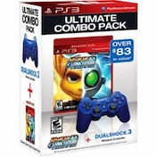 Ratchet & Clank A Crack In Time Game + Official Dualshock Blue Controller PS3