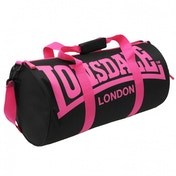Lonsdale Barrel Bag Black & Pink