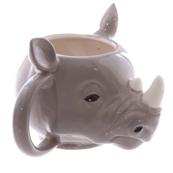 Rhino Head Shaped Ceramic Mug