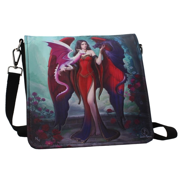 Dragon Mistress Embossed Shoulder Bag