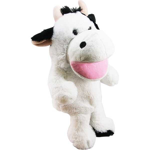 Cow 10 Inch Plush Hand Puppet