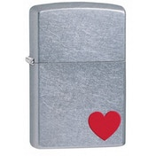 Zippo Love Street Chrome Lighter