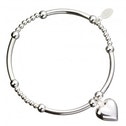 Heart Charm with Sterling Silver Ball & Noodle Bead Bracelet