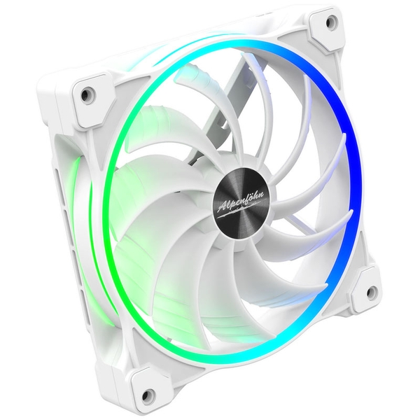 Alpenfohn Wing Boost 3 White 140mm Addressable RGB PWM Fan - Triple Pack