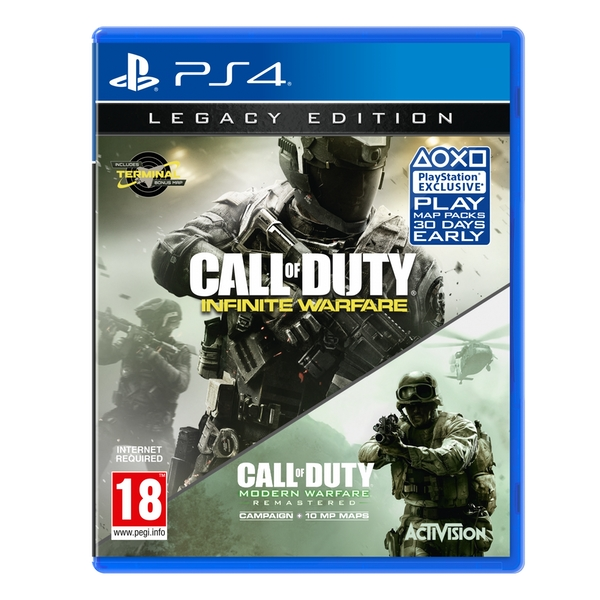 call of duty infinite warfare legacy edition ps4 game. Black Bedroom Furniture Sets. Home Design Ideas