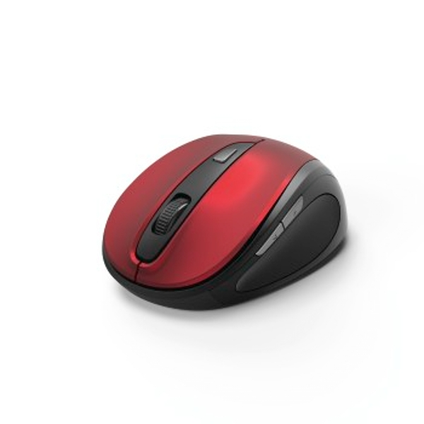 """Hama """"MW-400"""" Optical 6-Button Wireless Mouse, red"""