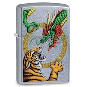 Zippo Chinese Dragon Chrome Regular Windproof Lighter