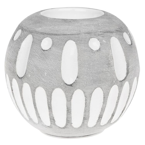 Inca Grey Tealight Ball Ornament