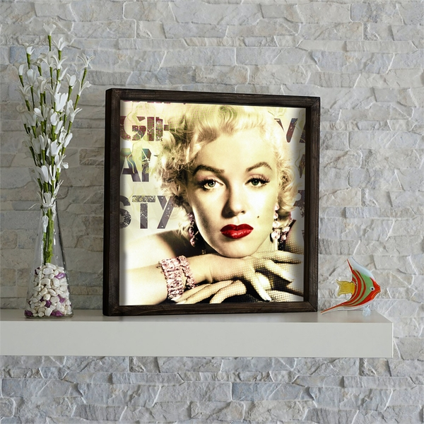 KZM544 Multicolor Decorative Framed MDF Painting