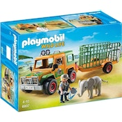 Playmobil Wildlife Ranger's Truck with Elephant