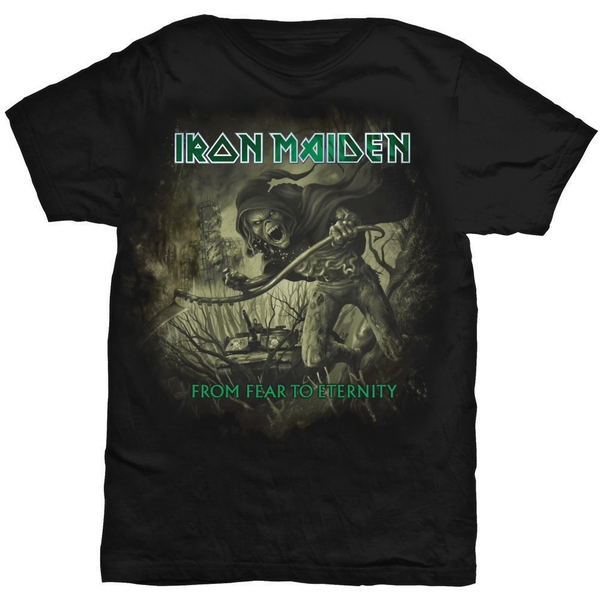 Iron Maiden - From Fear To Eternity Distressed Unisex Medium T-Shirt - Black