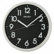 Seiko QXA694N LumiBrite Wall Clock Light Grey with Black Face