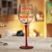 He Sees You When You're Drinking Novelty Wine Glass