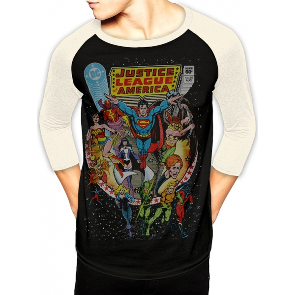 Justice League - Cover Men's Small T-Shirt - Black