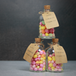 Set of 12 Mini 50ml Glass Bottles | Includes Decorative labels | M&W - Image 3