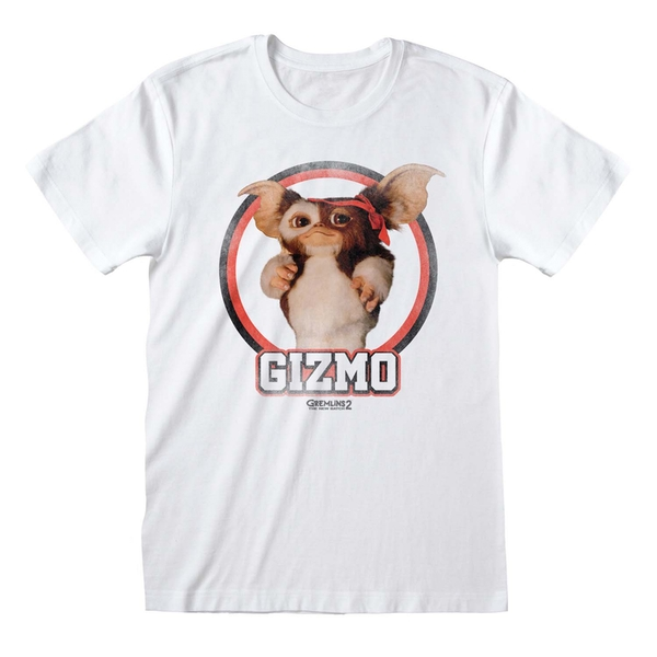 Gremlins 2 - Gizmo Distressed Large T-Shirt - White