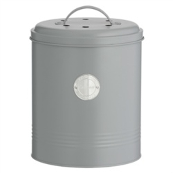 Typhoon Compost Caddy with Carbon Filters Steel 2.5 Litre