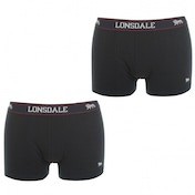 Lonsdale 2 Pack Mens Trunk Boxer Shorts Navy Large