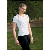 PT Ladies S/Sleeve Running Shirt White/