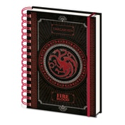 Game Of Thrones - Targaryen Notebook