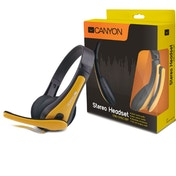 Canyon Entry PC Headphones Black and Yellow