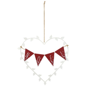Metal Noel Heart Hanging Decoration