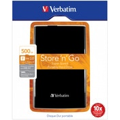 Verbatim 500GB USB3.0 Portable hard drive 6.35cm 2.5 Black