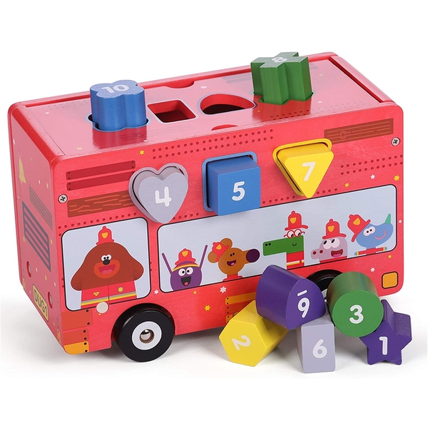 Hey Duggee Wooden Shape Sorting Fire Truck with Light & Sound