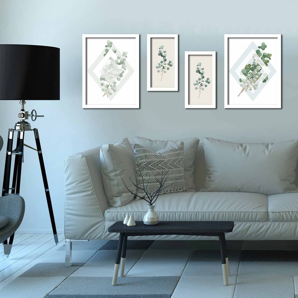4P3040BCT021 Multicolor Decorative Framed MDF Painting (4 Pieces)