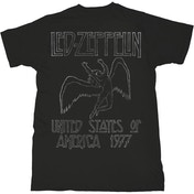 Led Zeppelin - USA '77. Men's X-Large T-Shirt - Black