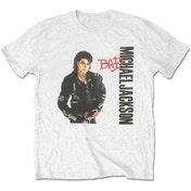 Michael Jackson - Bad Men's Large T-Shirt - White