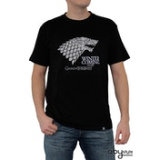 Game Of Thrones - Winter Is Coming Men's Large T-Shirt - Black