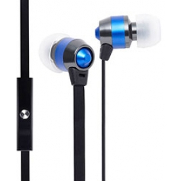 Groov-e Smart Buds Metal Earphones with Remote Mic Blue