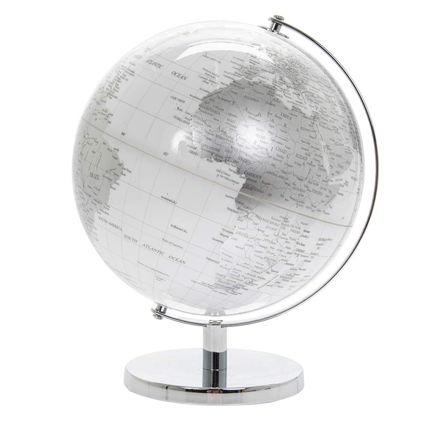 Large Globe Silver & White By Lesser & Pavey
