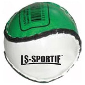 LS Sportif Hurling Club and County Sliotar Ball Green/White - Adult